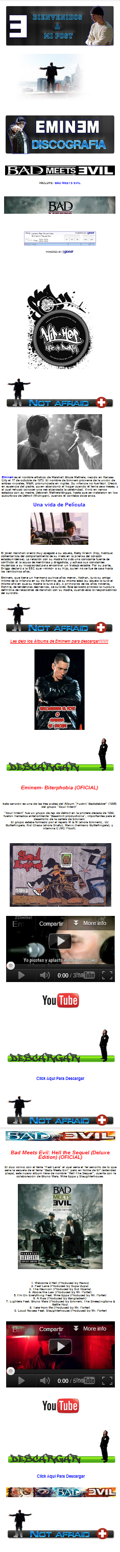 Descargar Discografia de Eminem [mp3][Mediafire]
