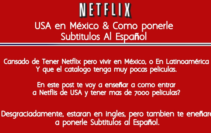 how to watch mexico netflix in usa