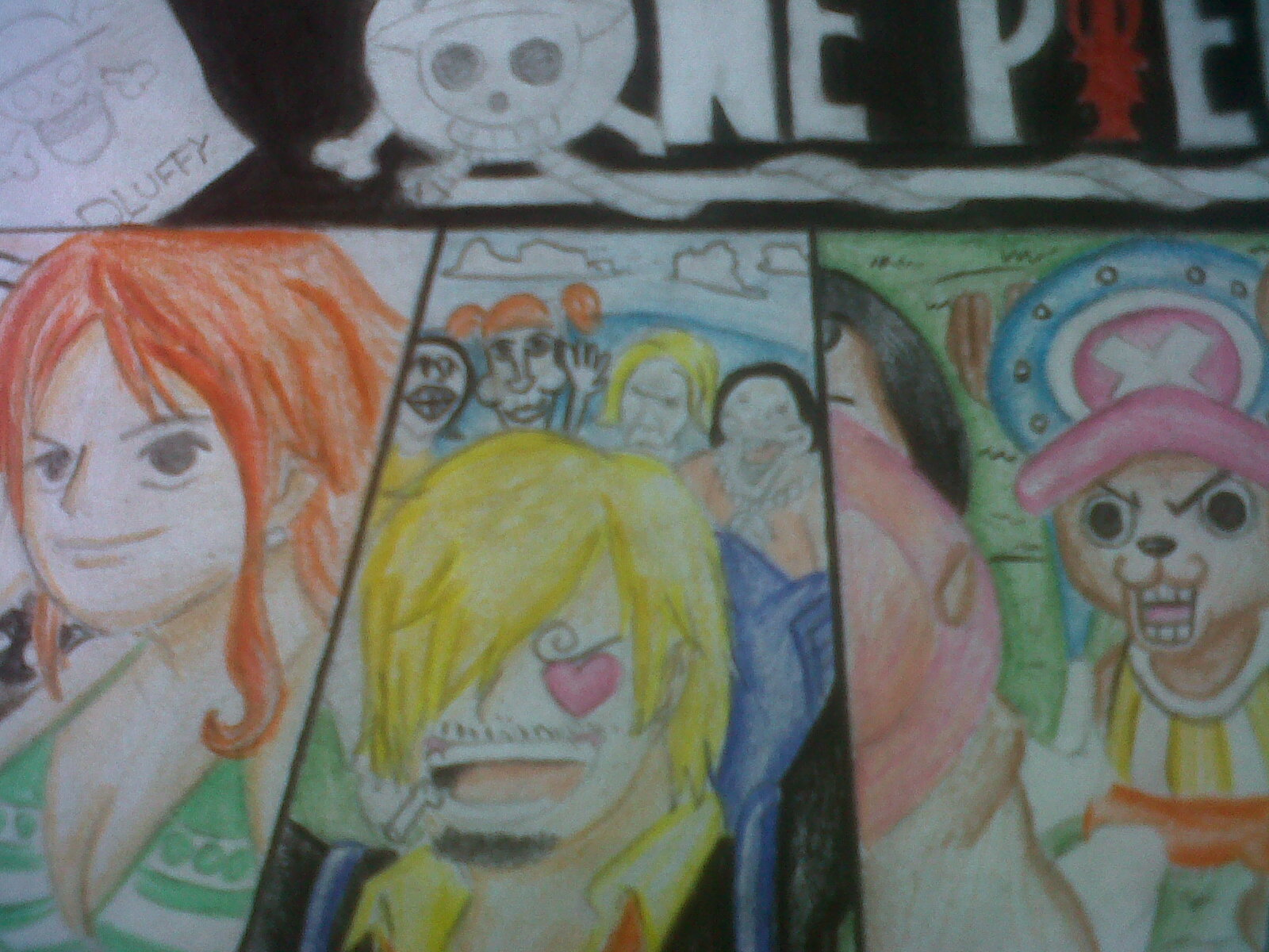 Mi Dibujo de One Piece .