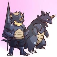 #Pokemon #Rhydon  Mi cuarto pokemon y favorito numero 1 :grin: