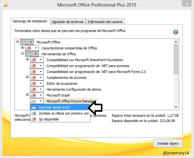 Cómo instalar Microsoft Picture Manager en Office 2013