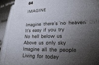 #musica #imagine #JohnLennon #Taringa #LaUltimaPagina