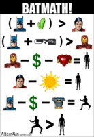 Batman es mejor que Iron man y que Superman (simple matematica)