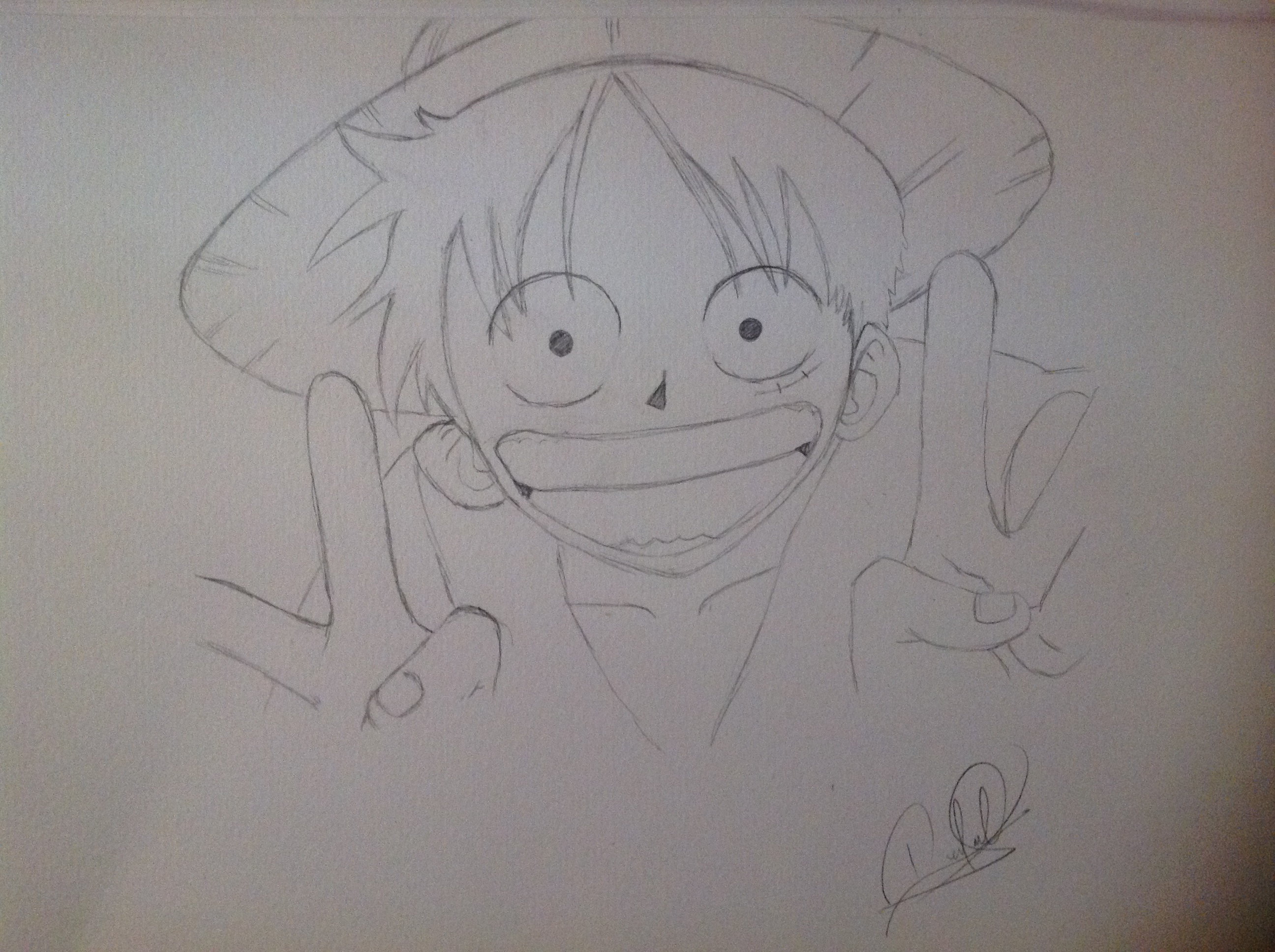 Mis 2 dibujos de one piece luffy one piece fans for One piece dibujos