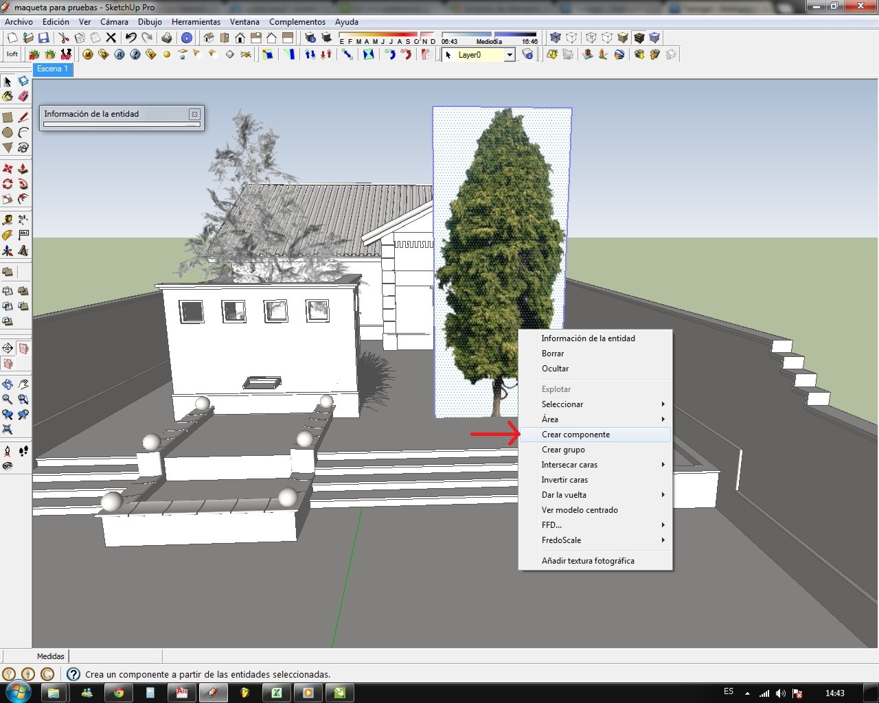 how to get trees in vray skethcup