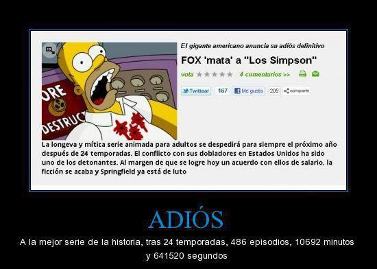 Los Simpsons llegarian a su final